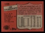 1987 Topps #188  Cris Collinsworth  Back Thumbnail