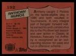 1987 Topps #192  Anthony Munoz  Back Thumbnail