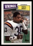 1987 Topps #210  Issiac Holt  Front Thumbnail