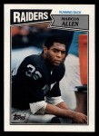 1987 Topps #215  Marcus Allen  Front Thumbnail