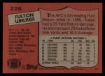 1987 Topps #226  Fulton Walker  Back Thumbnail