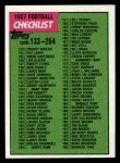 1987 Topps #395   Checklist 133-264 Front Thumbnail