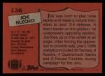 1987 Topps #136  Joe Klecko  Back Thumbnail