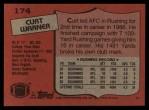 1987 Topps #174  Curt Warner  Back Thumbnail