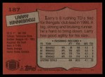 1987 Topps #187  Larry Kinnebrew  Back Thumbnail