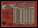 1987 Topps #238  Nat Moore  Back Thumbnail