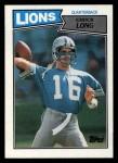 1987 Topps #318  Chuck Long  Front Thumbnail