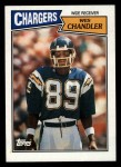 1987 Topps #342  Wes Chandler  Front Thumbnail