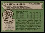 1978 Topps #235  Mark Van Eeghen  Back Thumbnail