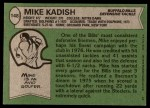 1978 Topps #148  Mike Kadish  Back Thumbnail