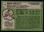 1978 Topps #93  Mike Pruitt  Back Thumbnail