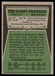 1975 Topps #399  Barry Pearson  Back Thumbnail