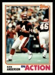 1982 Topps #39   -  Ken Anderson In Action Front Thumbnail