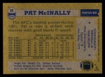 1982 Topps #50  Pat McInally  Back Thumbnail