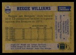 1982 Topps #54  Reggie Williams  Back Thumbnail