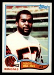1982 Topps #54  Reggie Williams  Front Thumbnail