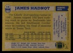 1982 Topps #116  James Hadnot  Back Thumbnail