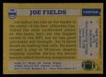 1982 Topps #166  Joe Fields  Back Thumbnail