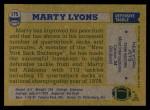 1982 Topps #175  Marty Lyons  Back Thumbnail