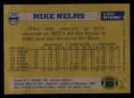 1982 Topps #518  Mike Nelms  Back Thumbnail