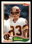 1982 Topps #523  Don Warren  Front Thumbnail