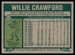 1977 Topps #642  Willie Crawford  Back Thumbnail
