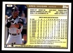 1999 Topps Traded #86 T Greg Vaughn  Back Thumbnail