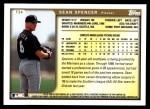 1999 Topps Traded #34 T Sean Spencer  Back Thumbnail