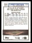 1992 Topps #84  Larry Brown  Back Thumbnail