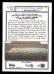 1992 Topps #112  Howard Ballard  Back Thumbnail