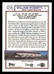 1992 Topps #456  William Roberts  Back Thumbnail