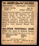 1948 Leaf #18  Harry Gilmer  Back Thumbnail