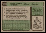 1974 Topps #129  Chris Speier  Back Thumbnail