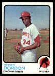 1973 Topps #492  Pedro Borbon  Front Thumbnail