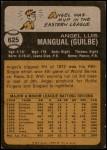 1973 Topps #625  Angel Mangual  Back Thumbnail