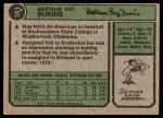 1974 Topps #161  Ray Burris  Back Thumbnail