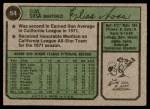 1974 Topps #54  Elias Sosa  Back Thumbnail
