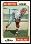 1974 Topps #47  Dick Ruthven  Front Thumbnail