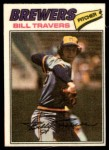 1977 Topps Cloth Stickers #49  Bill Travers  Front Thumbnail