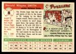 1955 Topps #8  Hal W. Smith  Back Thumbnail