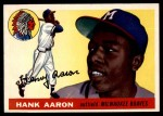 1955 Topps #47  Hank Aaron  Front Thumbnail