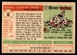 1955 Topps #6  Stan Hack  Back Thumbnail