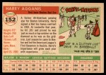 1955 Topps #152  Harry Agganis  Back Thumbnail