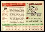 1955 Topps #39  Bill Glynn  Back Thumbnail