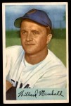 1954 Bowman #70  Willard Marshall  Front Thumbnail
