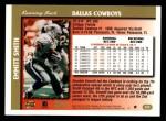 1997 Topps #220  Emmitt Smith  Back Thumbnail