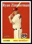 2007 Topps Heritage #98 WN Ryan Zimmerman   Front Thumbnail