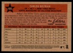 2007 Topps Heritage #486   -  Carlos Beltran All-Star Back Thumbnail