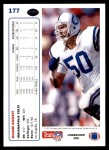 1991 Upper Deck #177  Duane Bickett  Back Thumbnail