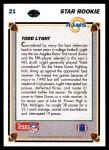 1991 Upper Deck #21  Todd Lyght  Back Thumbnail